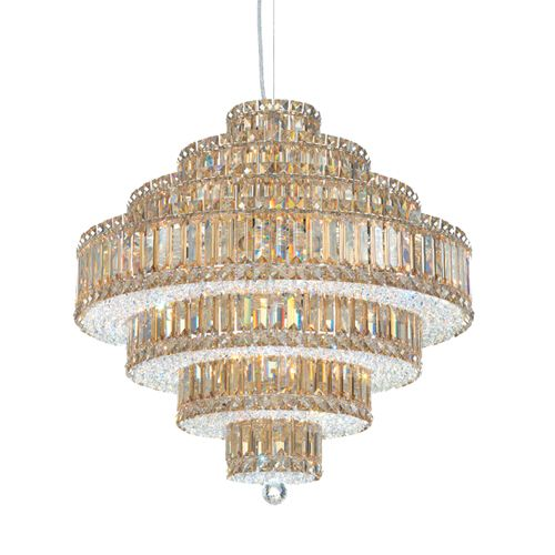 Schonbek 6675 Plaza 25Lt Swarovski Crystal Ceiling Pendant