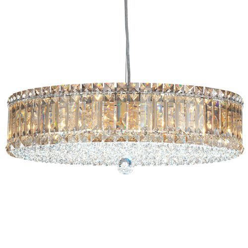 Schonbek 6672 Plaza 15Lt Swarovski Golden Shadow Crystal Ceiling Pendant