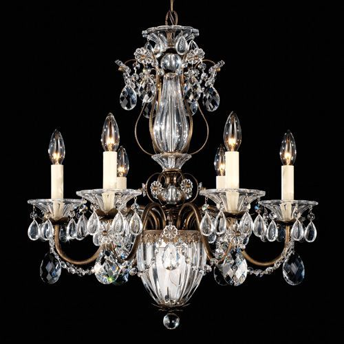 Schonbek 1246 Bagatelle 7Lt Swarovski Spectra Crystal Ceiling Chandelier