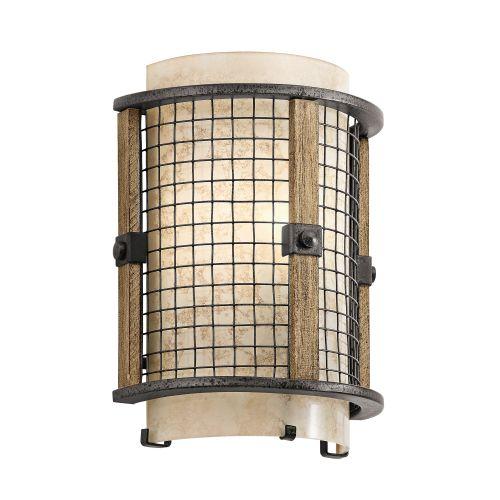 Kichler KL/AHRENDALE1 Ahrendale 1Lt Anvil Iron Wall Light