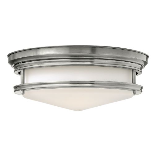 Hinkley HK/HADLEY/F AN Hadley 3Lt Antique Nickel Ceiling Flush