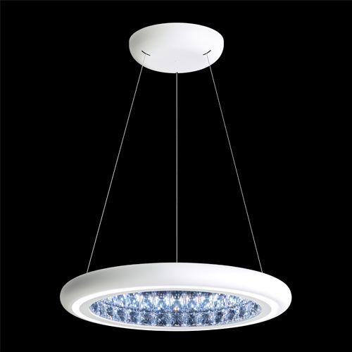Swarovski MFC201 Infinite Aura LED Crystal Pendant White Frame