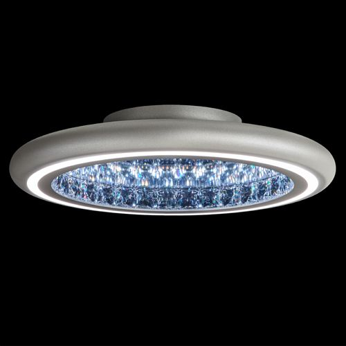 Swarovski MFC221 Infinite Aura LED Crystal Flush Wall Light White Frame