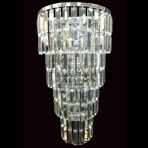 Impex CE20610/05/WB/CH Padua 5Lt Polished Chrome Lead Crystal Wall Light