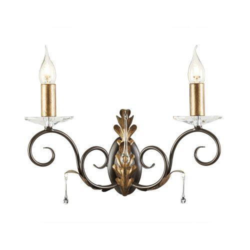 Elstead Amarilli 2lt Wall Light Bronze/Gold ELS/AML2 BRONZE