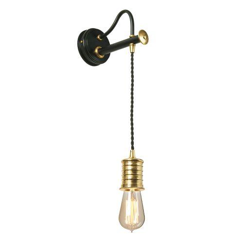 Elstead Douille Wall Light Black/Polished Brass ELS/DOUILLE1 BPB