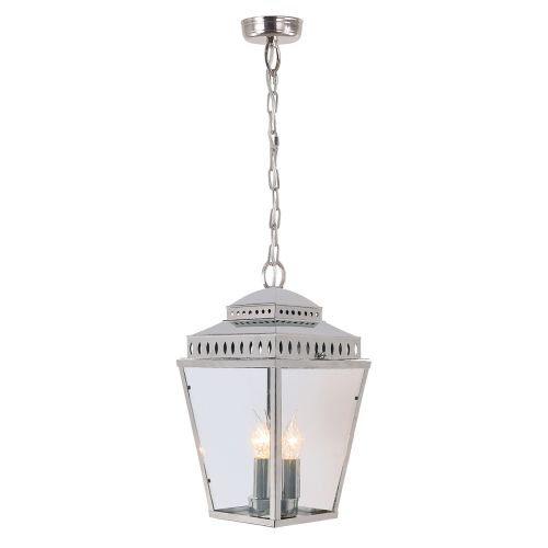 Elstead Mansion House Outdoor Pendant Lantern Polished Nickel ELS/MANSIONHS8 PN