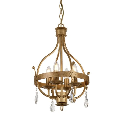 Elstead Windsor 4lt Pendant Gold Patina ELS/WINDSOR4