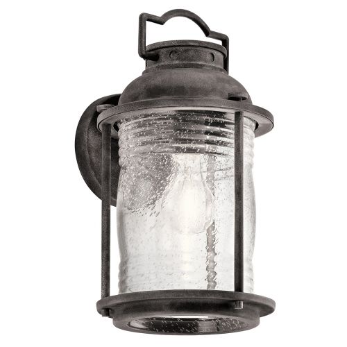 Kichler Ashlandbay Medium Indoor/Outdoor Wall Lantern Weathered Zinc ELS/KL/ASHLANDBAY2/M