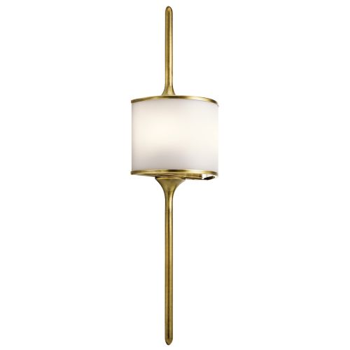 Kichler Mona 2lt Wall Light Natural Brass ELS/KL/MONA/L NBR