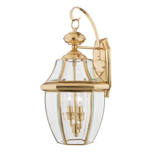 Quoizel Newbury Large Wall Lantern Polished Brass ELS/QZ/NEWBURY2/L