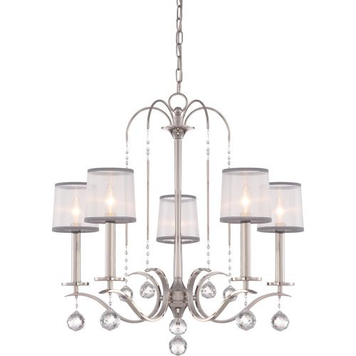 Quoizel Whitney 5lt Chandelier Imperial Silver ELS/QZ/WHITNEY5