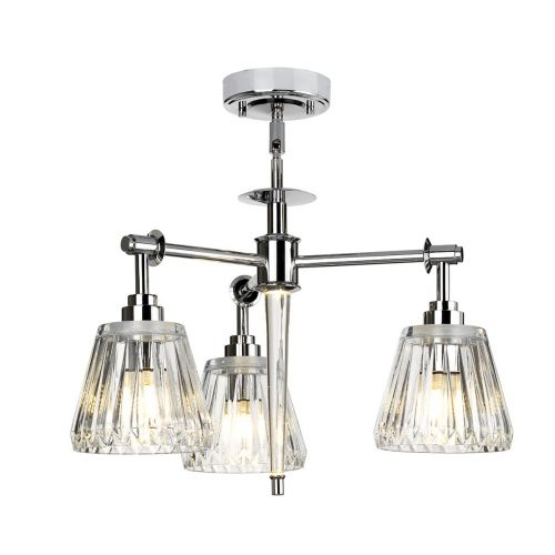 Elstead Agatha 3Lt LED IP44 Bathroom Pendant Light Polished Chrome BATH/AGATHA3P PC