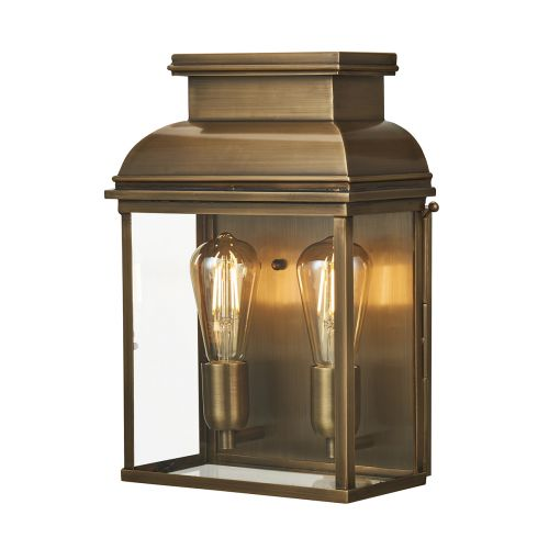 Elstead Old Bailey Large Outdoor Wall Lantern Aged Brass OLD BAILEY/L BR