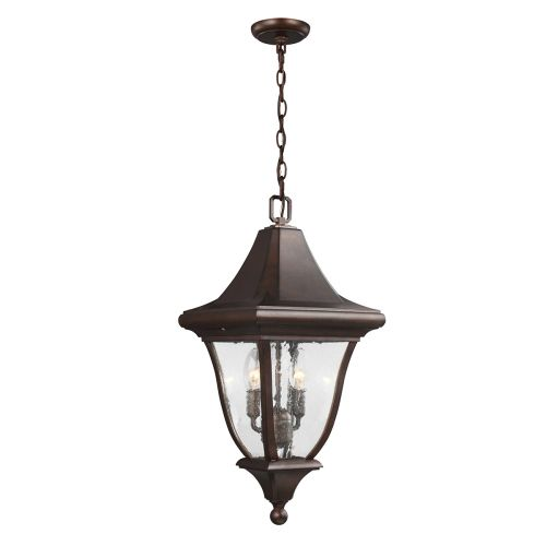 Feiss Oakmont Medium Chain Outdoor Lantern Patina Bronze FE/OAKMONT8/M