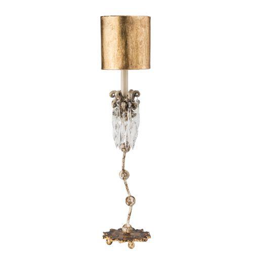 Flambeau Venetian Table Lamp Beige Patina Gold FB/VENETIAN/TL
