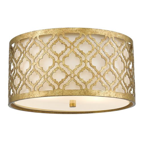 Gilded Nola Arabella 2Lt Flush Mount Distressed Gold GN/ARABELLA/F