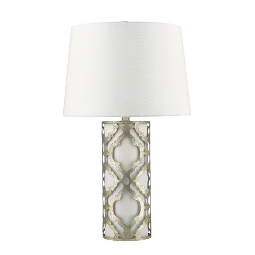 Gilded Nola Arabella Table Lamp Distressed Silver GN/ARABELLA/TL/S