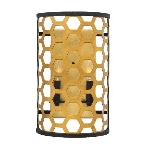 Hinkley Felix 2Lt Wall Light Sunset Gold HK/FELIX2