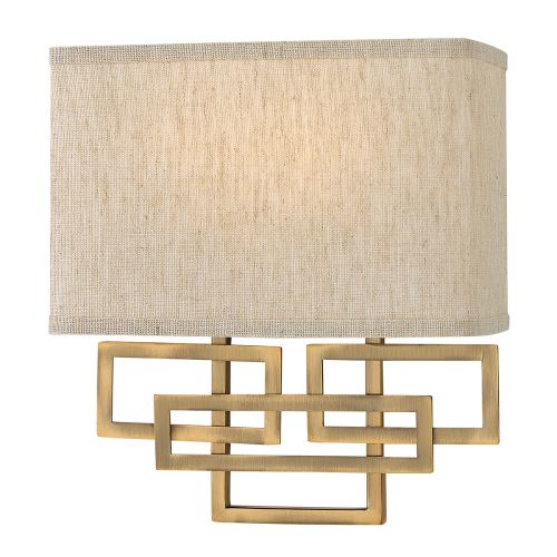 Hinkley Lanza 2Lt Wall Light Brushed Bronze HK/LANZA2 BR