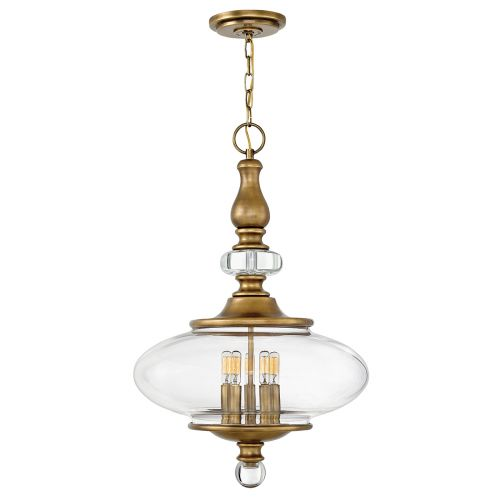Hinkley Wexley 5Lt Pendant Light Heritage Brass HK/WEXLEY/5P HB