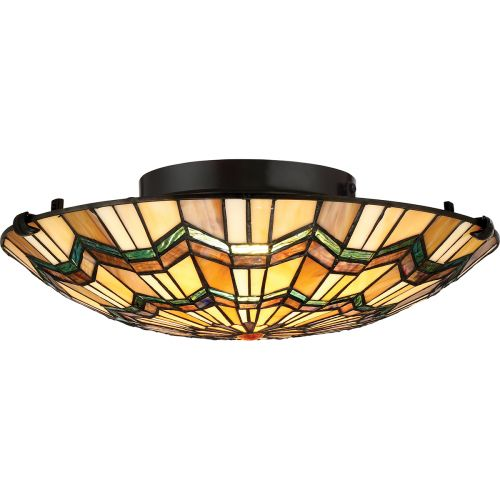Quoizel Alcott 2Lt Flush Mount Ceiling Light Valiant Bronze QZ/ALCOTT/F