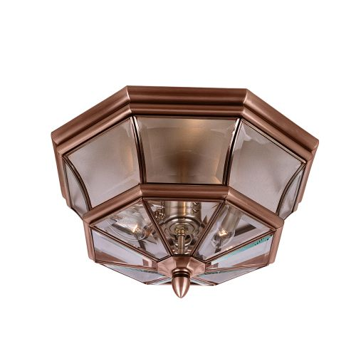 Quoizel Newbury Flush Mount Aged Copper QZ/NEWBURY/F AC