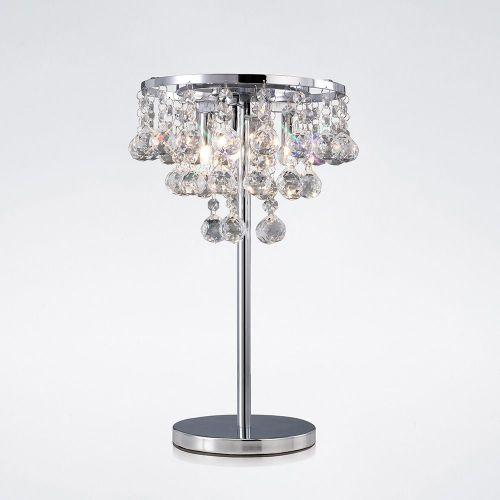 Diyas IL30028 Atla Table Lamp 3 Light Polished Chrome/Crystal