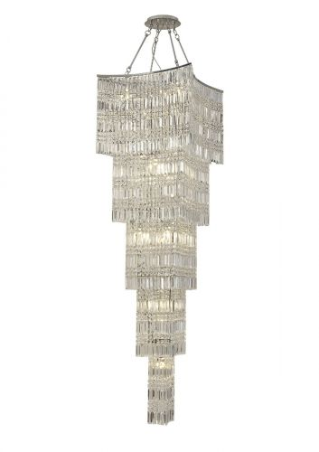 Diyas Gianni 15 Light Tall Pendant  Polished Chrome/Crystal IL30645