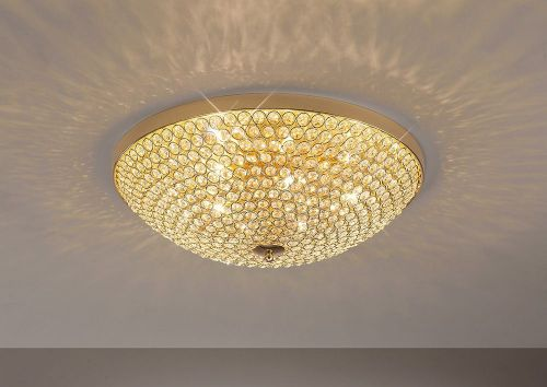 Diyas IL30757 Ava Ceiling 6 Light French Gold/Crystal