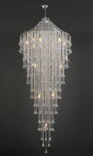 Diyas Inina 15 Light Tall Pendant  Polished Chrome/Crystal IL30776