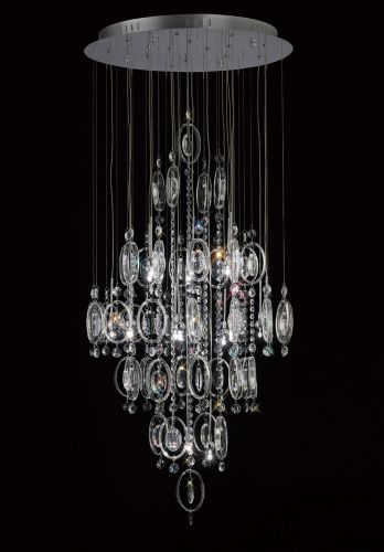 Diyas Solana 18 Light Polished Chrome Crystal Pendant Fitting IL31354