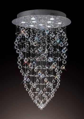 Diyas  Colorado 9 Light Cone Pendant  Polished Chrome/Crystal IL31378