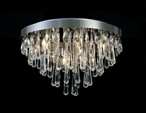 Diyas Sophia E14 8 Light Ceiling  Polished Chrome/Crystal IL31432