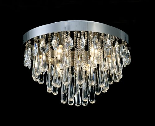 Diyas Sophia E14 10 Light  Ceiling  Polished Chrome/Crystal IL31433