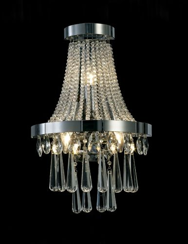 Diyas Sophia 3 Light E14 Wall Lamp  Polished Chrome/Crystal IL31434