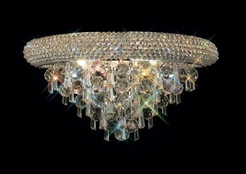 Diyas  Alexandra 3 Light Wall Lamp Medium Polished Chrome/Crystal IL31441
