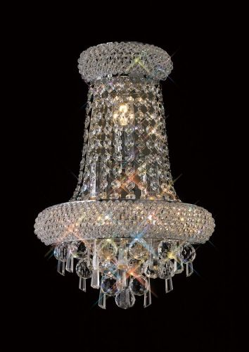 Diyas  Alexandra Large 3 Light Wall Lamp Polished Chrome/Crystal IL31442