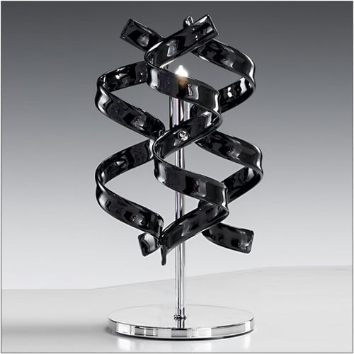 Metal Lux Astro Black Glass Table Lamp 206.121.03