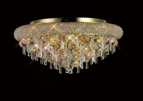 Diyas  Alexandra 7 Light Ceiling Light Gold/Crystal IL32106