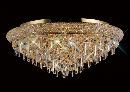 Diyas  Alexandra 9 Light Ceiling Gold/Crystal IL32107