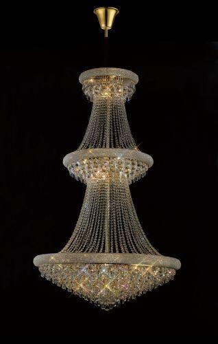 Diyas  Alexandra 3 Tier 29 Light Pendant Gold/Crystal IL32114