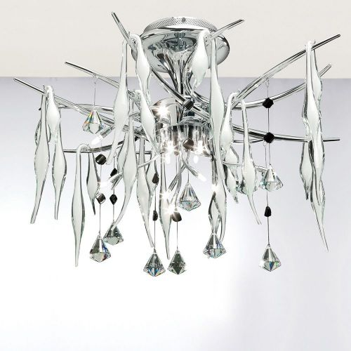 Diyas IL50413 Cygnet Pendant 11 Light Polished Chrome White Glass Crystal