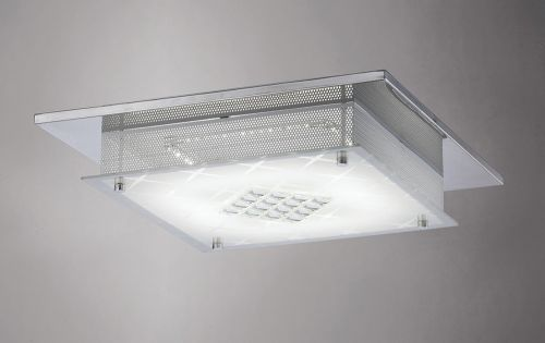 Diyas IL80051 Ines Flush Ceiling Fitting LED 3600K Polished Chrome Crystal