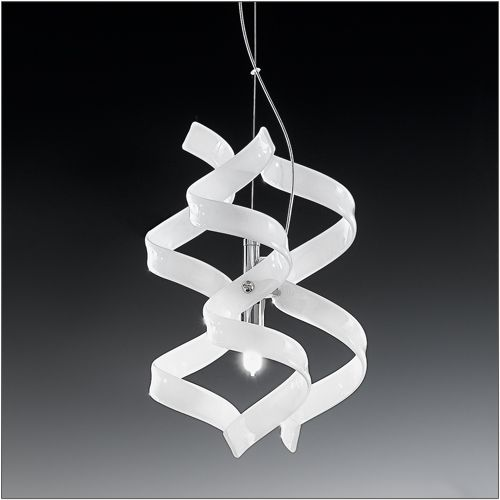 Metal Lux Astro Single Gloss White Pendant 206.511.02