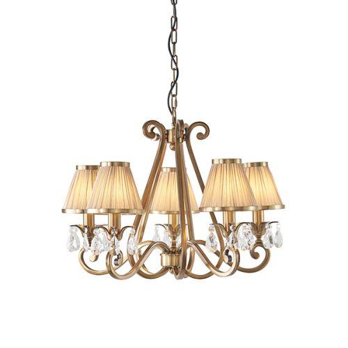 Interiors 1900 Oksana 5-Light Chandelier Beige Shade 63522