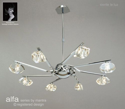 Mantra M0410 Alfa Pendant 8 Light G9 Polished Chrome