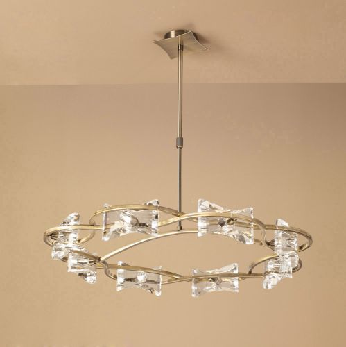 Mantra M0888AB Kromo Telescopic 8 Light Ceiling Fitting Antique Brass