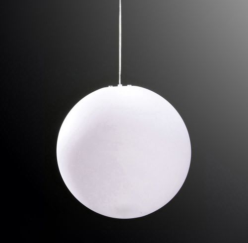 Mantra M1399 Huevo Large Ball Outdoor Pendant Fitting 1 Light IP44 Opal White