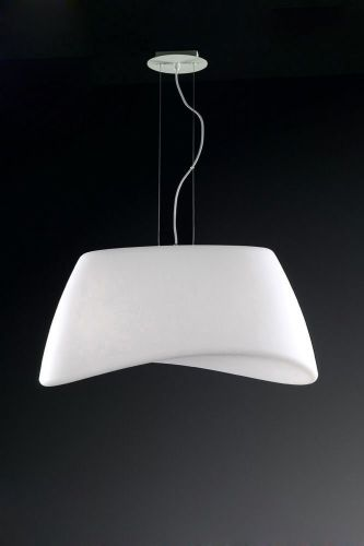 Mantra M1504 Cool Outdoor Pendant Fitting 2 Light Oval IP44 Matt White Opal